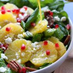 Festive Orange Spinach Salad