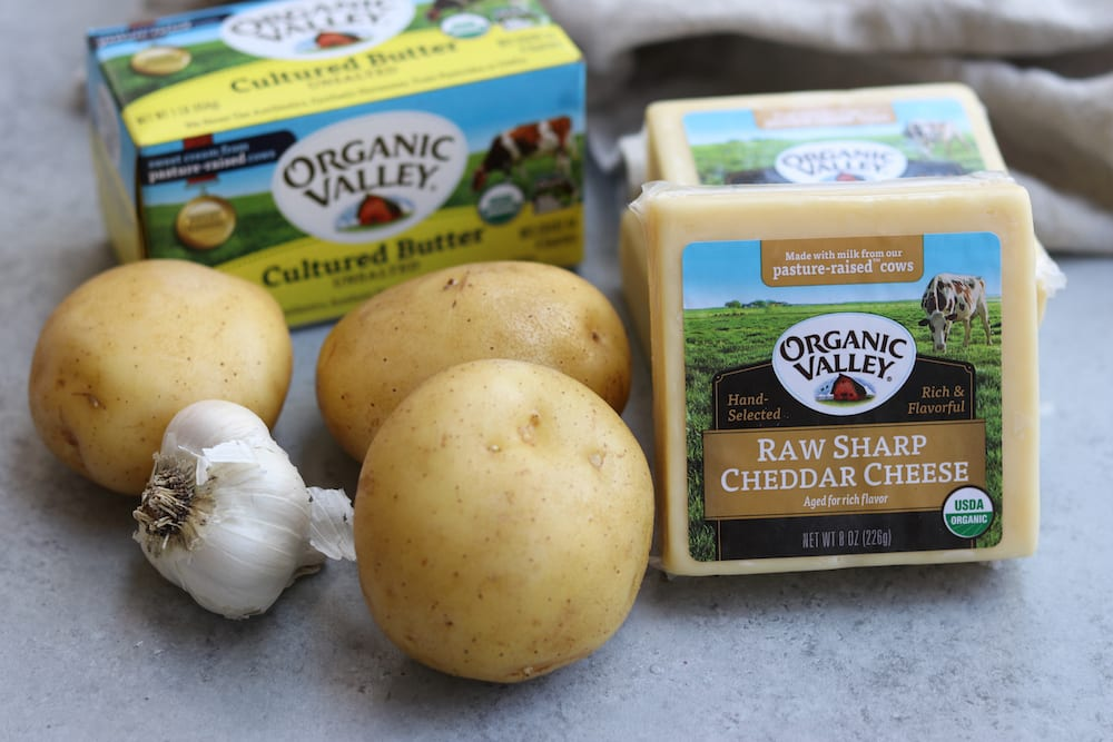Organic Valley cheese and butter used for Creamy Dreamy Scallop Potatoes.