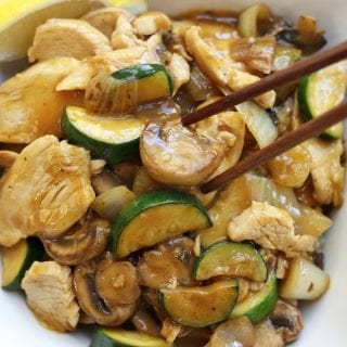 Bright and citrusy, this Lemon Chicken Stir Fry is perfect for a quick and healthy dinner. Good bye take out, say hello to your new healthy decadence.