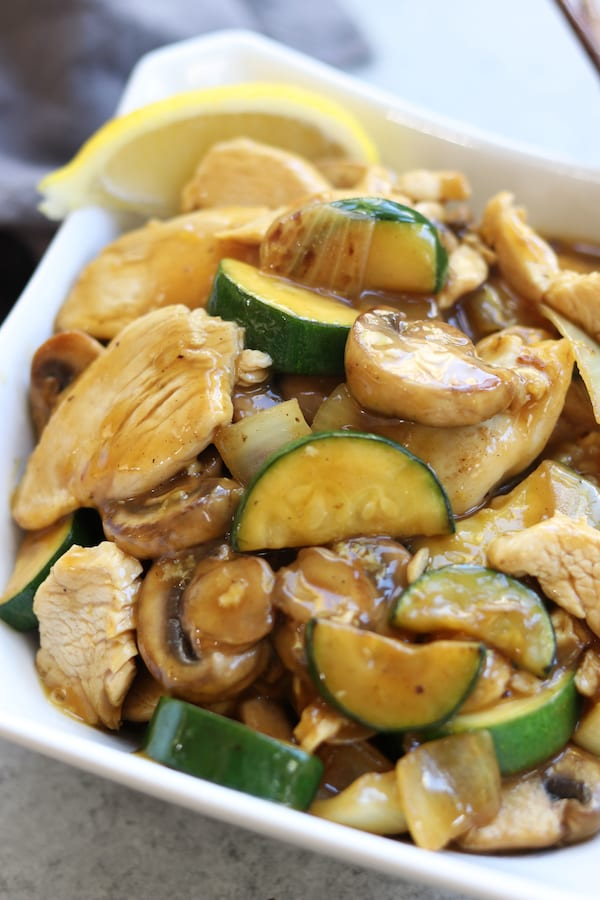 Lemon chicken stir fry the fed up foodie bright and citrusy this lemon chicken stir fry is perfect for a quick and healthy forumfinder Images