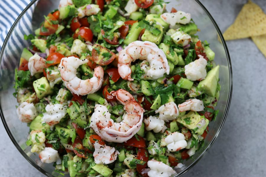 California Shrimp Ceviche - The Fed Up Foodie