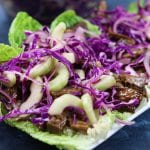 Crockpot Beef Asian Lettuce Wraps recipe is incredibly easy to make and creates wraps that are like eating a really fun and delicious salad.