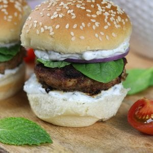Simple, refreshing and filling, Greek Turkey Burgers Sliders are a fun alternative to the traditional American hamburger.