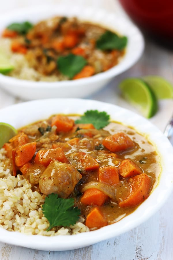 The perfect marriage of savory spices to a subtle sweetness makes this Chicken Sweet Potato Curry a favorite time and time again.