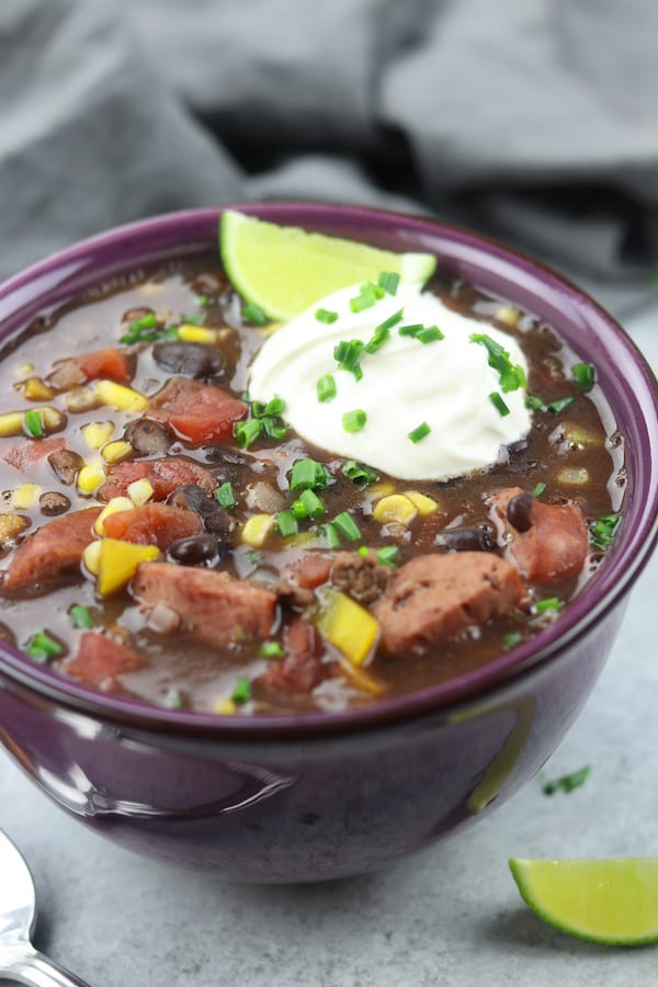 Beautiful and hardy, Black Bean Soup is a vegetable and protein rich meal that is so good it is almost addictive.
