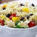 Cilantro Lime Confetti Orzo recipe with chicken.