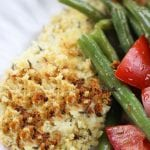One Pan Panko Chicken and Green Bean Salad