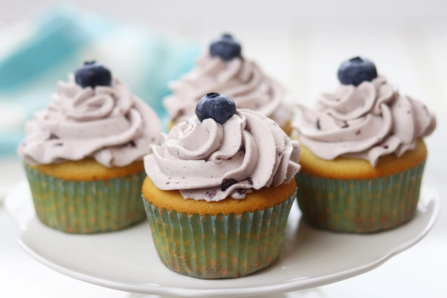 Moist Vanilla Cupcake Recipe with Whipped Cream Frosting
