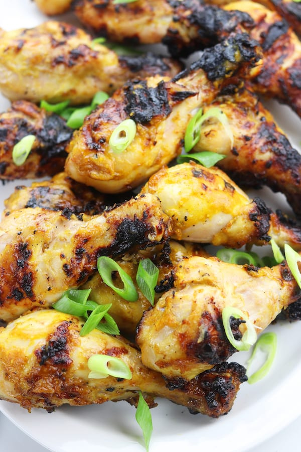 Mango Curry Grilled Chicken recipe creates tender sweet and savory grilled chicken. Simple ingredients are mixed together, pored over the chicken, marinated overnight and then grilled the next day to create the best tasting chicken for anytime of the year. An absolute favorite!