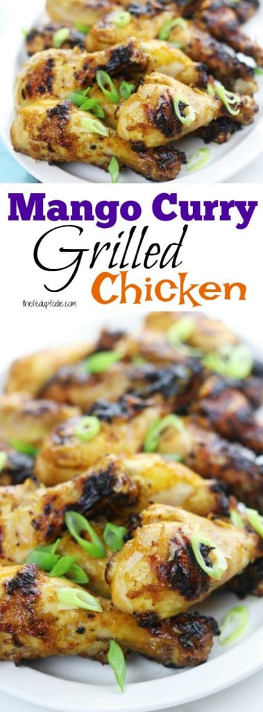 Mango Curry Grilled Chicken recipe creates tender sweet and savory grilled chicken. Simple ingredients are mixed together, poured over the chicken, marinated overnight and then grilled the next day to create the best tasting chicken for anytime of the year. An absolute favorite!