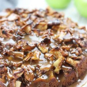 Chunky Apple Caramel Cake