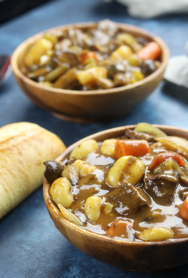 Italian Beef Stew recipe has melt in your mouth tender beef, a rich sauce with the tastes of Italy, tender gnocchi and hearty veggies. The best comfort meal on chilly days and a favorite for family meals.