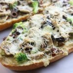Chicken Béchamel French Bread Pizza is a quick and easy family favorite recipe. One of the best homemade pizza that is perfect with rotisserie chicken or leftover Thanksgiving turkey. Simple ingredients and takes only minutes to bake.