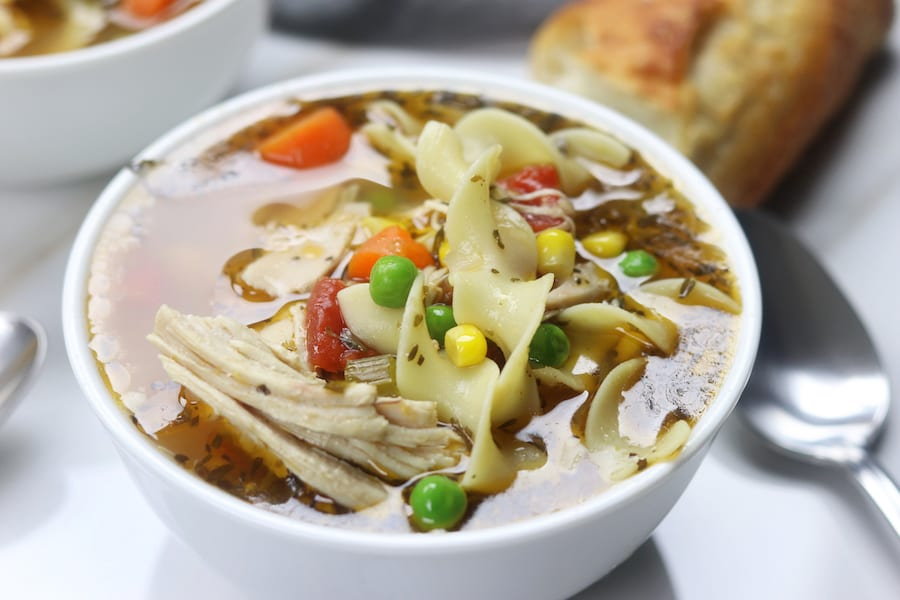 Homemade Chicken Noodle Soup recipe has easy steps to creating a rich and savory broth. Warm and comforting, feels like home with every bite. This recipe is a must for soothing the winter colds.
