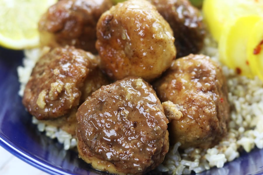 Lemon Chicken Quinoa Meatballs