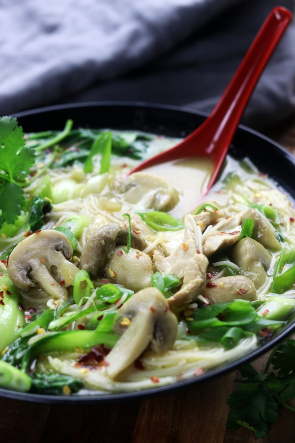 Green Curry Coconut Chicken Soup