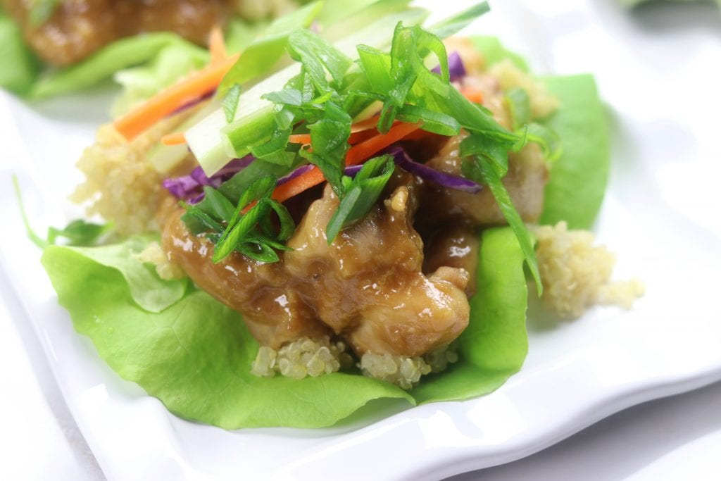Wasabi Ginger Asian Lettuce Wraps