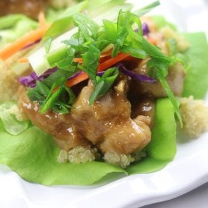 Wasabi Ginger Asian Lettuce Wraps