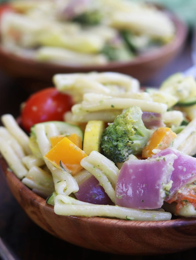 Creamy Pesto Vegetable Pasta