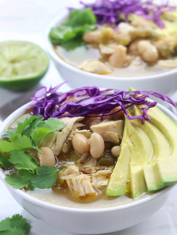 White Bean Chicken Tomatillo Soup
