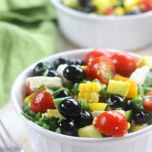Blueberry Basil Chopped Veggie Salad