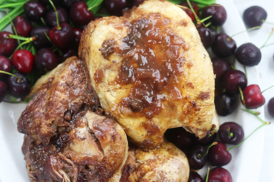 Cherry Chicken cooked in the Instant Pot