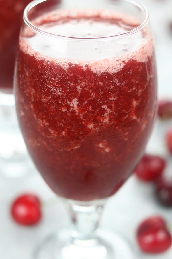 Frozen Cherry Wine Drink