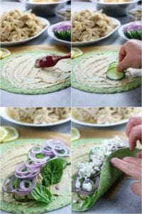 Production of Instant Pot Greek Chicken Wraps
