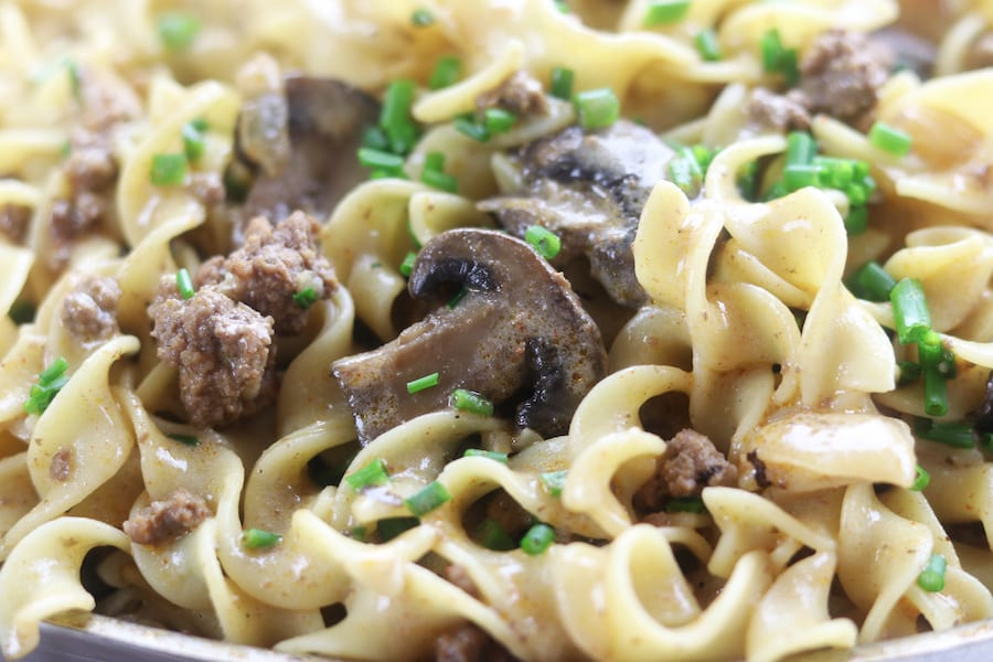 Beef Stroganoff with Ground Beef