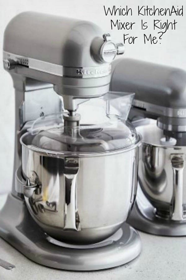 Which KitchenAid Mixer is right for me and my household? A comprehensive look at mixers and attachments to help choose the best KitchenAid Stand Mixer for your kitchen. #KitchenAidMixer #WhichKitchenAidMixer #WhichKitchenAIdMixerIsRightForMe #DreamKitchen #KitchenAppliances https://www.thefedupfoodie.com