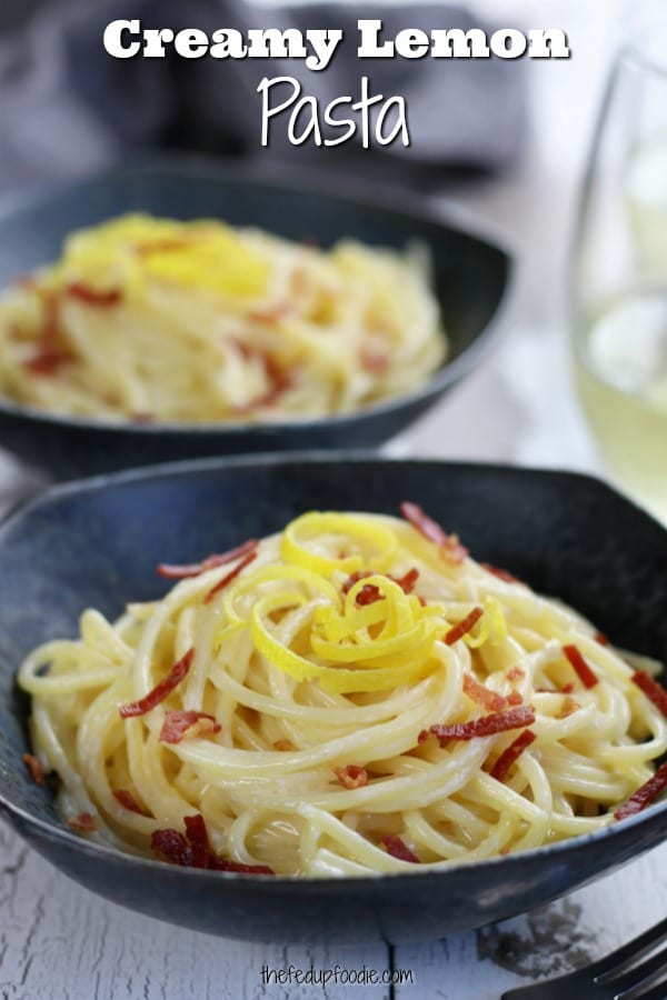 With just a few ingredients, this Lemon Garlic Pasta creates a creamy comfort dish with a bright citrus punch. This recipe is easy enough for a weeknight but elegant enough for a dinner party. Truly a classic! #LemonPasta #PastaRecipes https://www.thefedupfoodie.com