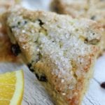 Orange Cranberry Scones with Sparkling Sugar