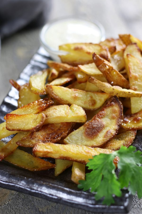 Up close picture of Homemade French Fries Recipe.