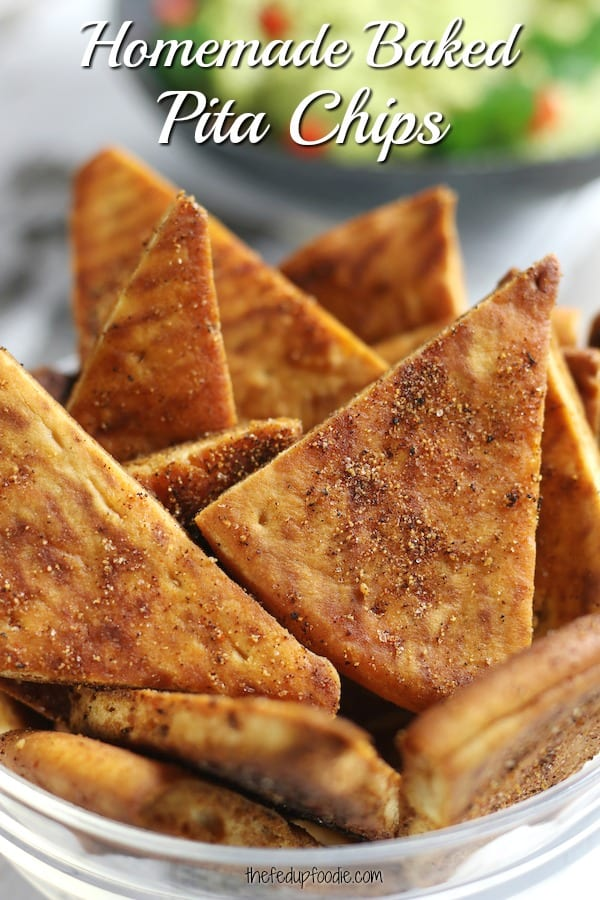 Secrets to making the best Baked Pita Chips that are crispy and full of flavor. Perfectly seasoned, this Pita chips works great as a healthy snack. #BakedPitaChips #BakedPitaChipsRecipe #HealthyPitaChips #SeasonedPitaChips https://www.thefedupfoodie.com