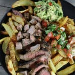 Picture of Carne Asada Fries Recipe with all the fixings.
