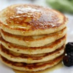 Stack of Oat Flour Pancakes.