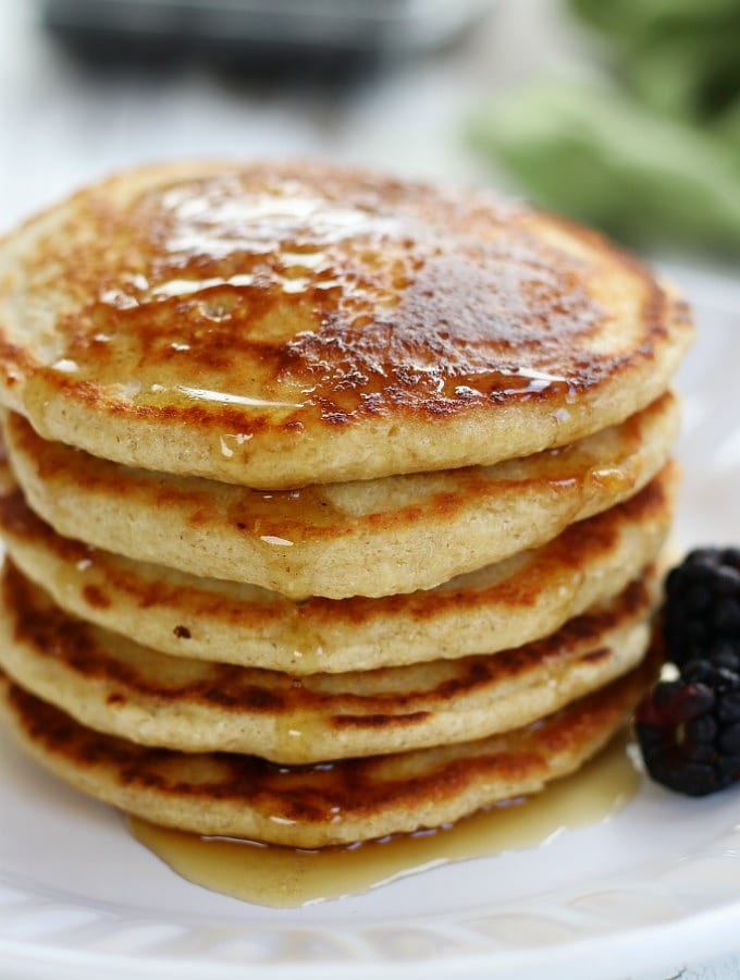 How To Make Incredibly Fluffy Oat Flour Pancakes Oat Flour Pancakes