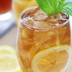 Glass full of iced tea from How To Make Iced Tea Post.