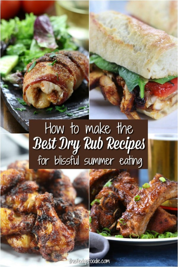 A good dry rub can take a great piece of meat and make it exceptionally flavorful. These Dry Rub Recipes are mouthwatering and make for blissful summer eating. ##DryRubRecipes #DryRubRibs #DryRubWings #DryRubChicken #DryRubBeef https://www.thefedupfoodie.com