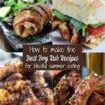 Four Dry Rub Recipes in a collage.