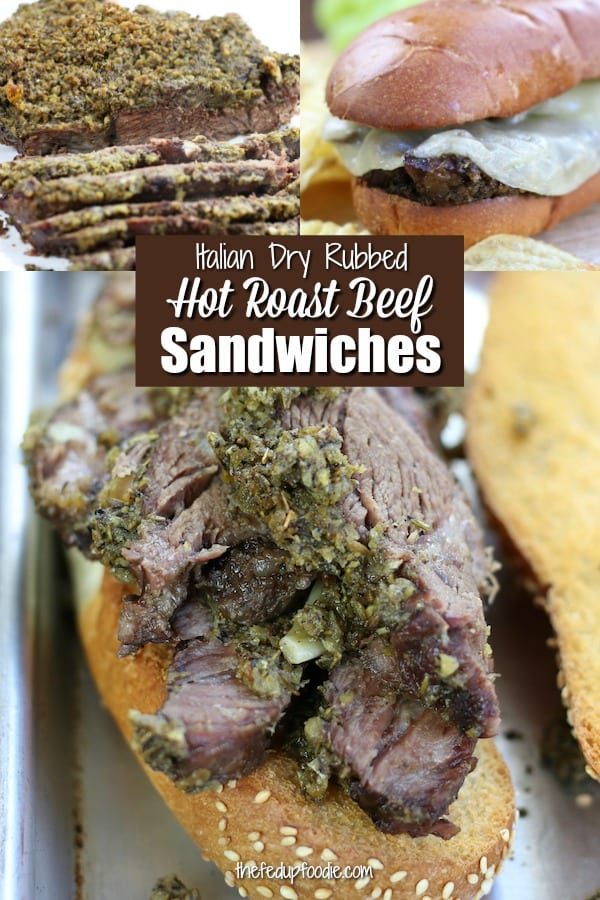 Italian spiced slowed cooked beef in a toasted hoagie roll with melted provolone makes this Hot Roast Beef Sandwich insanely scrumptious. #HotRoastBeefSandwich #OvenBakedHotRoastBeefSandwich #RoastBeefSandwich #RoastBeefSandwichRecipes https://www.thefedupfoodie.com