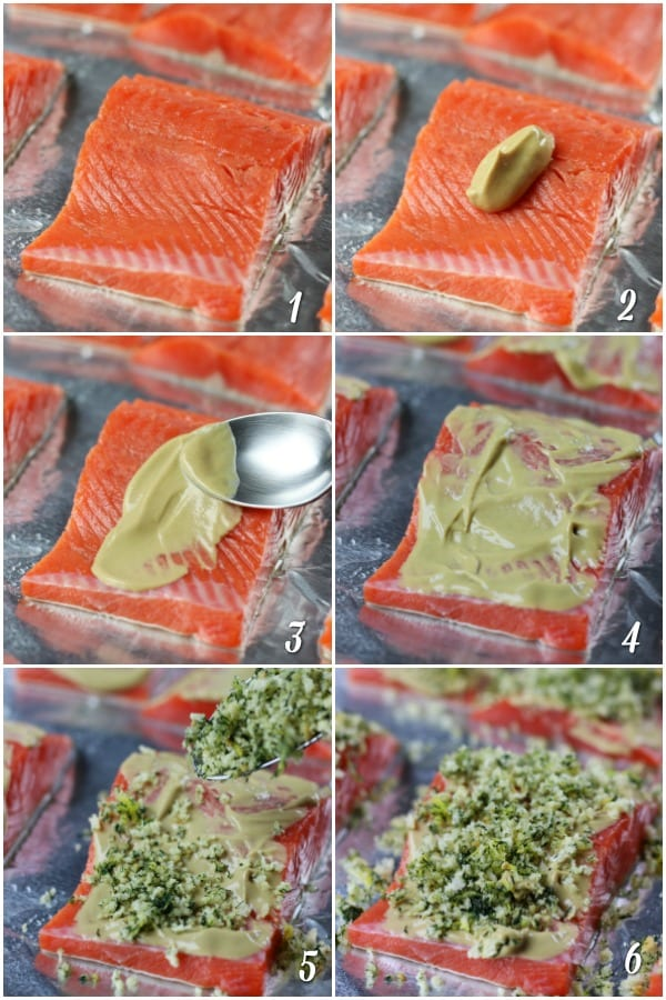 Steps of How To Make Baked Panko Salmon
