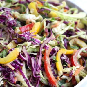 Cabbage Salad tossed with creamy Mexican dressing.