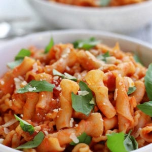 Two bowls of Vodka Sauce Pasta.