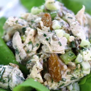 Up close photo of Tarragon Chicken Salad Recipe.
