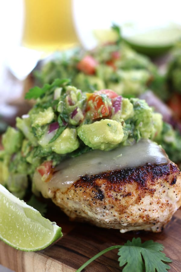 Seared chicken breast from Chicken Guacamole Dinner recipe.