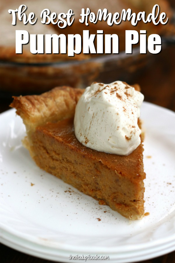 Homemade Pumpkin Pie is a from scratch recipe that my family has been making for decades. Originally adapted from Libby's pumpkin Pie but made with sweetened condensed milk and has a flaky homemade crust. 