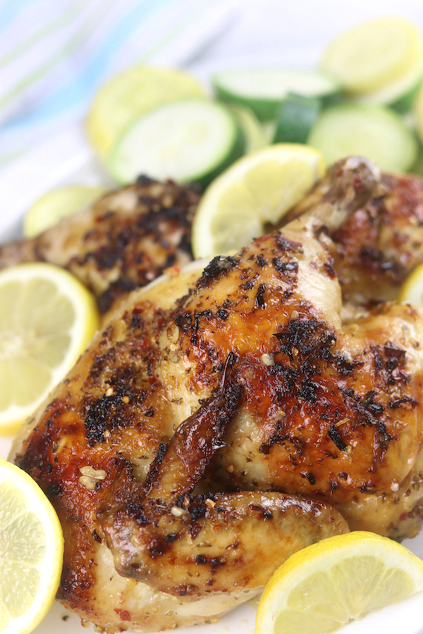Roasted chicken from Easy Greek Chicken Marinade.