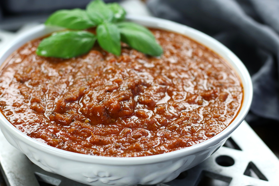 Freshly made Napolitana Sauce Recipe in a bowl.