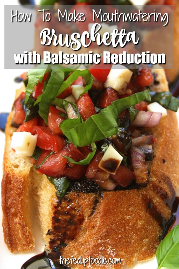 Tomato Bruschetta has creamy mozzarella and a tangy sweet Balsamic Reduction. This Bruschetta Appetizer is absolutely mouthwatering and perfect for summer days.